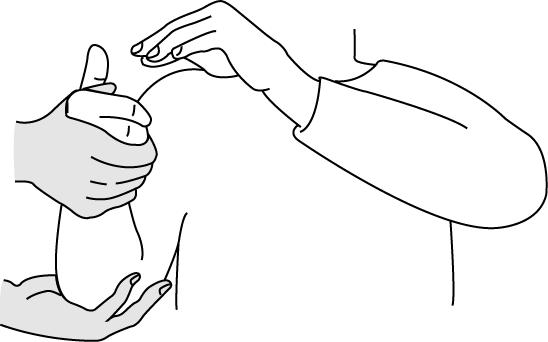 母指さがし試験の検査肢位