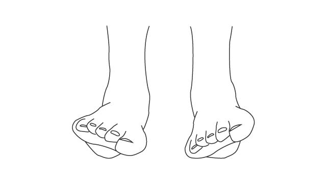 足部の前額面での運動