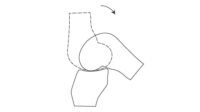 膝関節における滑り,脛骨の接触点は移動しない